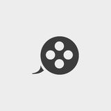 Film reel icon in a flat design in black color. Vector illustration eps10. Film  reel icon in a flat design in black color. Vector illustration eps10 Stock Image