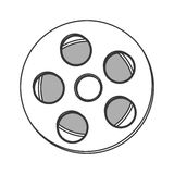 Film reel icon Stock Photography