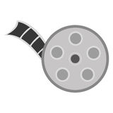 Film reel icon. Flat design film reel icon  illustration Royalty Free Stock Photography