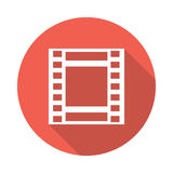 Film reel icon. Film reel  Glyphs Shadow Icon Royalty Free Stock Image