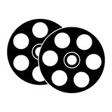 Film reel icon. Over white background.  illustration Royalty Free Stock Photos