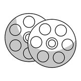Film reel icon. Over white background.  illustration Stock Image