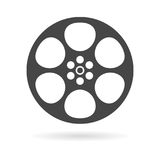 Film reel icon. Simple vector icon Royalty Free Stock Image