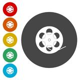 Film reel Icon. Vector icon vector illustration