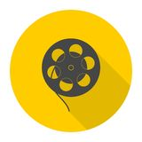 Film reel icon Royalty Free Stock Images