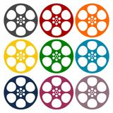 Film reel icons set. Film reel icon, simple vector icon Stock Photography