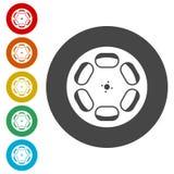 Film reel icons set stock illustration