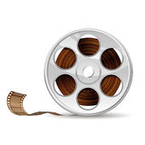 Film Reel. Illustration of camera reel, EPS 10 contains transparency Royalty Free Stock Photos