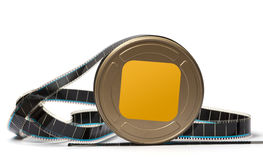 Film reel. Image is posed on white background Royalty Free Stock Photo