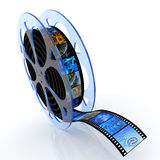 Film reel with images Stock Images