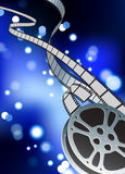 Film reel internet background Stock Photos