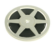 Film reel isolated. Cine film reel isolated stock photography