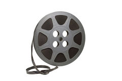 Film reel isolated with path Royalty Free Stock Image