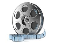 Film reel. Isolated on white background stock illustration