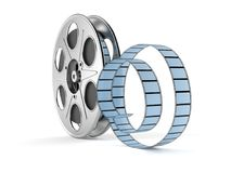 Film reel. Isolated on white background Royalty Free Stock Images