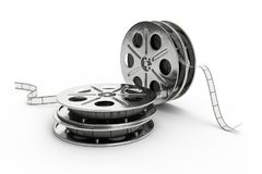 Film reel isolated on white background. 3D Illustration. Film reel isolated on white background, 3D Illustration stock illustration