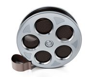 Film reel isolated on white background. 3D illustration.  Royalty Free Stock Images