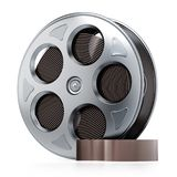 Film reel isolated on white background. 3D illustration.  Stock Image