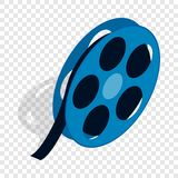 Film reel isometric icon. 3d on a transparent background vector illustration Royalty Free Stock Photo