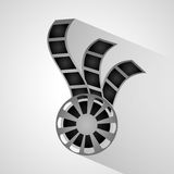 Film reel and movie design. Film reel icon. Cinema movie video and film theme. Grey design. Vector illustration Stock Photos