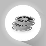 Film reel and movie design. Film reel icon. Cinema movie video and film theme. Grey design. Vector illustration Royalty Free Stock Photo