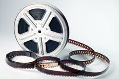 Film reel. Old motion picture film reel Stock Photo