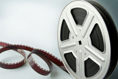 Film reel. Old motion picture film reel Royalty Free Stock Photography