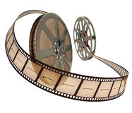 Free Film Reel Over White Royalty Free Stock Photo - 5007195