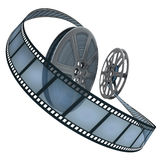 Film Reel Over White Royalty Free Stock Photos