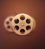 Film Reel. Retro cinema, eps 10 royalty free illustration