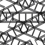 Film reel seamless. Film reel - black and white retro seamless Stock Photography