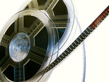 Film reel serie 1. Two Film reels with film strip royalty free stock photos