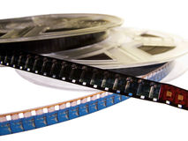 Film reel series 2. Two Film reels with two films on them. Those are old super8 film standard royalty free stock photography