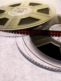 Film reel series 7. Two film reels with blank film strips stock photos