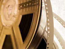 Film reel series 8. One film reel royalty free stock photography