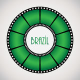 Film reel. With special design Royalty Free Stock Photography