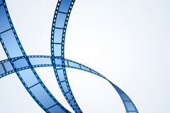 Film Reel Stripe. Illustration of film reel stripe on abstract background Stock Images