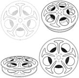 Film Reel Vector 02 Royalty Free Stock Photos