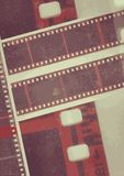 Film reel Vector Collage film strip in sepia variations Stock Photos