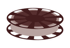Film reel , Vector illustration over white background. Film reel  illustration isolated over white Royalty Free Stock Photos