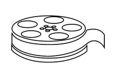 Film reel , Vector illustration over white background Royalty Free Stock Photo