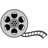 Film Reel. A vector illustration of a Film Strip Reel Stock Photo