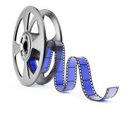 Film reel. On white background. 3d render Royalty Free Stock Photos