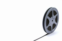 Film reelisolated auf Weiß Lizenzfreie Stockfotos