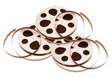 Film Reels. On White Background stock photo