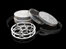 Film reels. 3D render of film reels Royalty Free Stock Photography