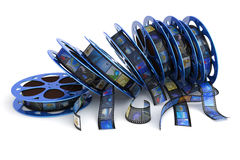 Film reels. Collection. Hi-res digitally generated image Royalty Free Stock Photo