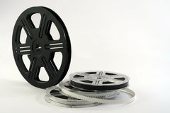 Film reels background. Isoalted Film reels. Movie background royalty free stock images