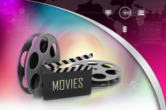 Film Reels and Clapper board Stock Images