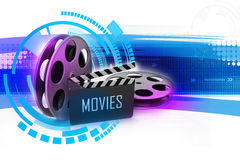 Film Reels and Clapper board Royalty Free Stock Images